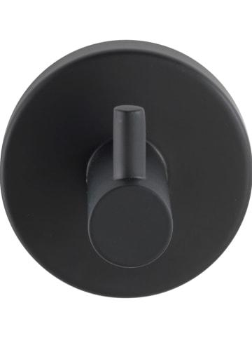 """Wenko Haczyk ścienny """"Bosio"""" w kolorze czarnym - Ø 5,5 cm"""