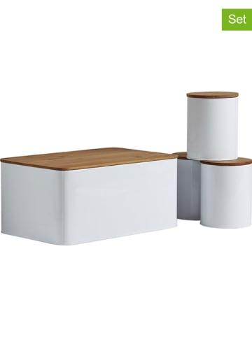 Wenko 4-częściowy zestaw pojemników w kolorze białym