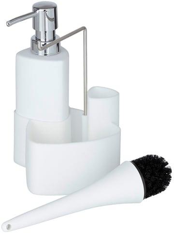 """Wenko Organizer """"Empire"""" w kolorze białym do mycia naczyń - (S)11 x (W)19 x (G)12,5 cm"""