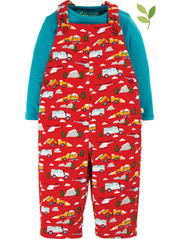 """Frugi 2-delige outfit """"Rae"""" blauw/rood"""
