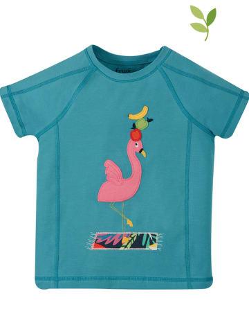 """Frugi Koszulka """"Yogi"""" w kolorze niebieskim"""