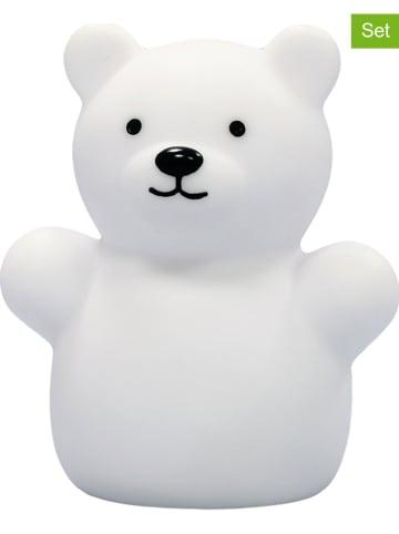 "Reer 2-delige set: lednachtlampjes ""Lumilu Mini Zoo - Bear"" wit - (H)8,5 cm"
