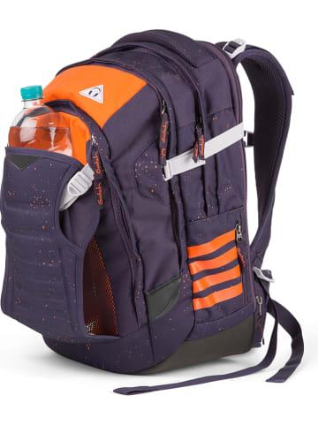 """Satch Schulrucksack """"Match - Optimus Orange"""" in Lila/ Orange - 30 l"""
