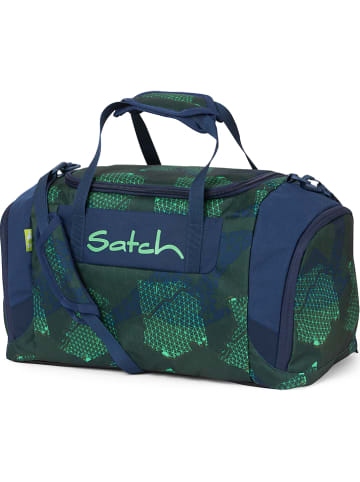 "Satch Sporttasche ""Duffles - Infra Green"" in Blau/ Grün - 25 l"