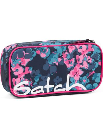 """Satch Federmäppchen """"Awesome Blossom"""" in Blau/ Pink - (B)22 x (H)6 x (T)10 cm"""