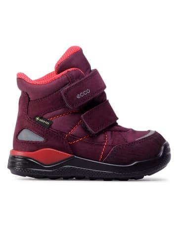 """Ecco Kozaki zimowe """"Urban Mini"""" w kolorze jagodowym"""