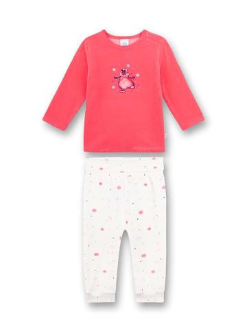 Sanetta Piżama w kolorze różowo-białym