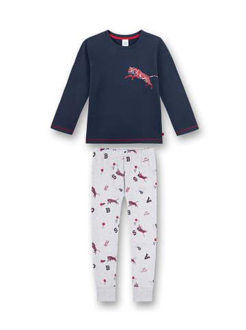 Sanetta Pyjama in Dunkelblau/ Grau