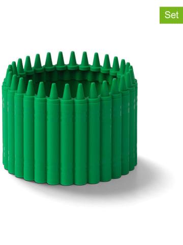 Crayola Przyborniki (2 szt.) w kolorze zielonym - wys. 6,4 x Ø 9 cm