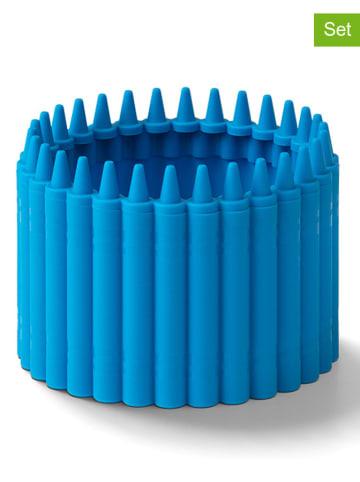 Crayola 2-delige set: pennenkokers blauw - (H)6,4 x Ø 9 cm