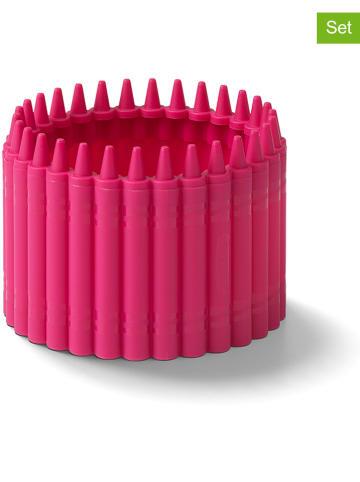 Crayola Przyborniki (2 szt.) w kolorze różowym - wys. 6,4 x Ø 9 cm