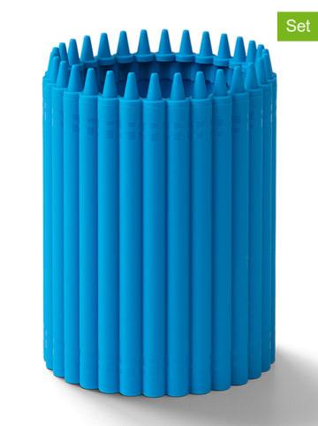 Crayola 2-delige set: pennenkokers blauw - (H)12 x Ø 9 cm