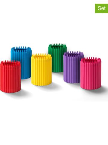 Crayola 6-delige set: pennenkokers meerkleurig - (H)12 x Ø 9 cm