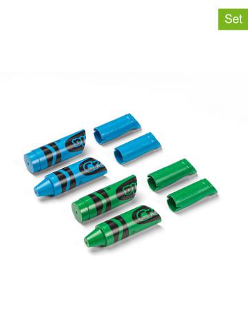 Crayola 4-delige set: wandhaken blauw/groen