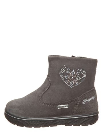Primigi Leder-Boots in Anthrazit