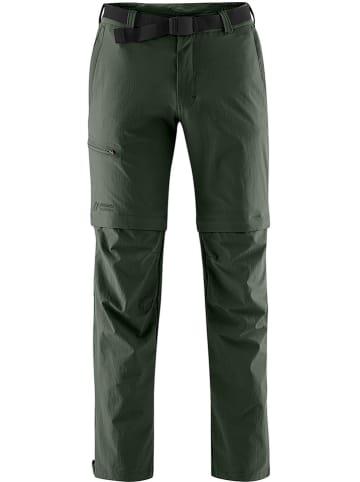 Maier Sports Turystyczne spodnie Zipp-Off w kolorze ciemnozielonym