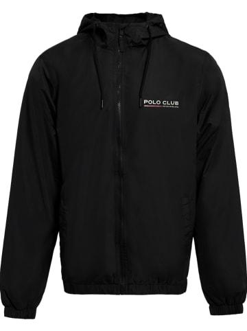 Polo Club Kurtka przeciwdeszczowa w kolorze czarnym