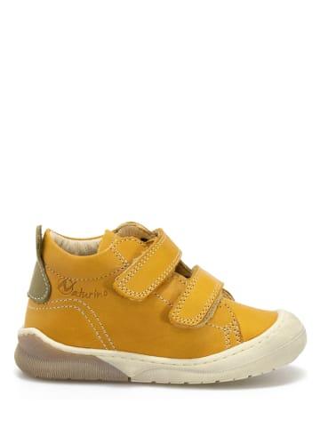 Naturino Leren sneakers mosterdgeel