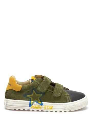 Naturino Leren sneakers kaki