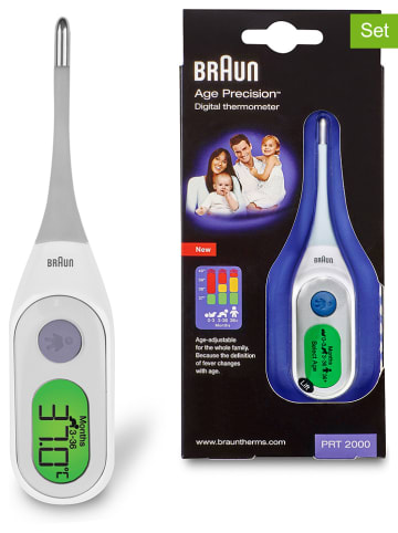 Braun 2tlg. Set: Elektronischer Nasensauger mit Digitalthermometer