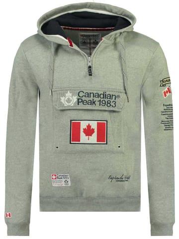 """Canadian Peak Hoodie """"Galapagos"""" in Grau"""
