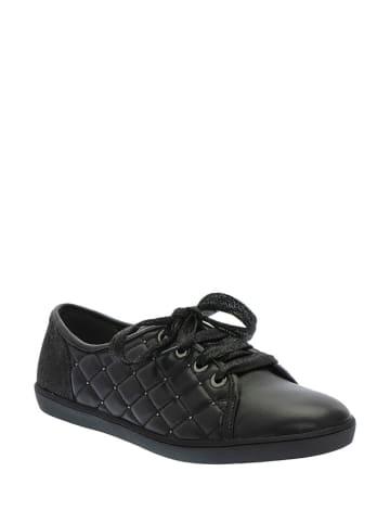 Pazolini Skórzane sneakersy w kolorze czarnym