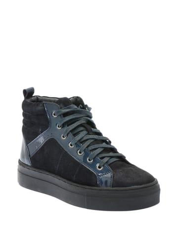 Pazolini Skórzane sneakersy w kolorze niebiesko-czarnym