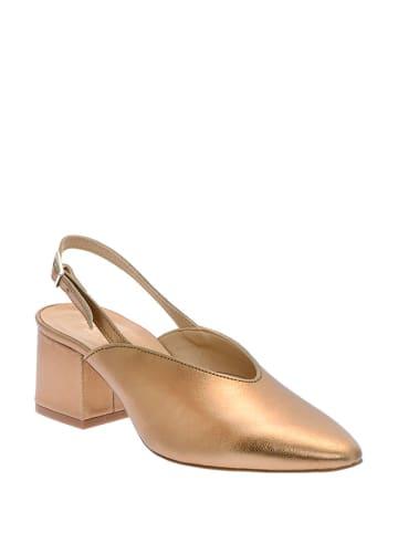 Pazolini Leder-Sandaletten in Gold/ Gelb
