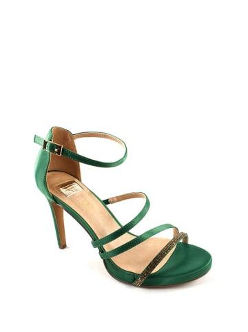 Eferri Sandały w kolorze zielonym