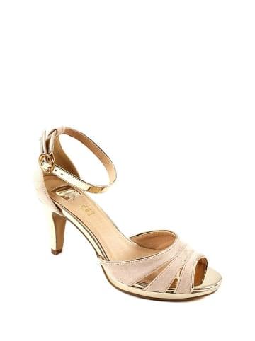 Eferri Sandały w kolorze jasnoróżowym