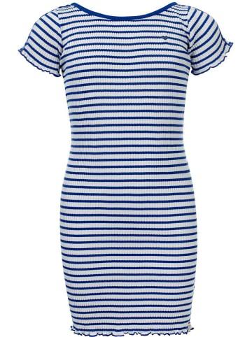 LOOXS little Sukienka w kolorze niebiesko-białym