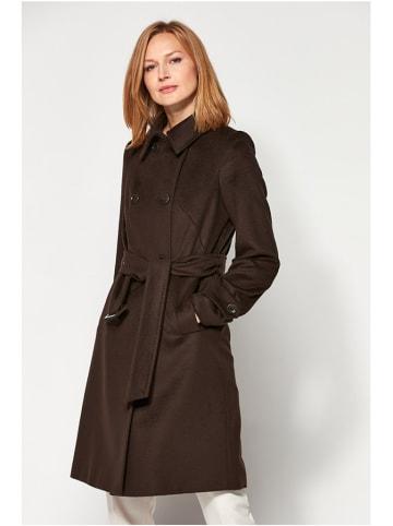 PATRIZIA ARYTON Wełniany płaszcz w kolorze brązowym
