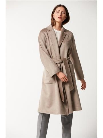 PATRIZIA ARYTON Wełniany płaszcz w kolorze beżowym