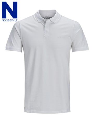 """Jack & Jones Koszulka polo """"Basic"""" w kolorze białym"""