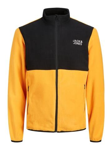 """Jack & Jones Kurtka polarowa """"Hype"""" w kolorze żółtym"""