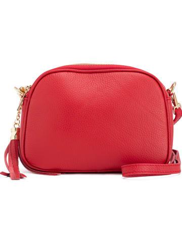 Pia Sassi Leren schoudertas rood - (B)23 x (H)17 x (D)7 cm