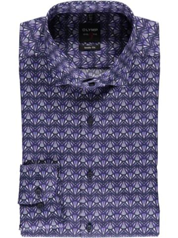 """OLYMP Koszula """"Level 5"""" - Body fit - w kolorze fioletowo-granatowym"""