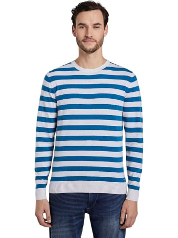 Tom Tailor Sweter w kolorze niebiesko-białym