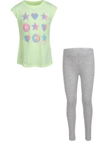 Converse 2-delige outfit mintgroen/grijs