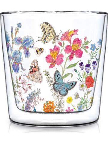 "Ppd Dubbelwandig glas ""Nature Romance"" meerkleurig - 300 ml"