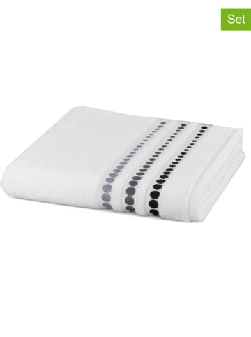 "Möve 3-delige set: handdoeken ""Line Points"" wit"