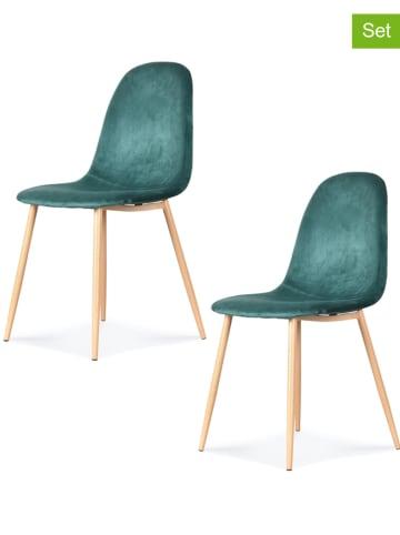 """Deco Lorrie Krzesła (4 szt.) """"Josef"""" w kolorze miętowym - 44 x 86 x 50 cm"""