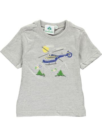 Isar-Trachten Shirt in Hellgrau