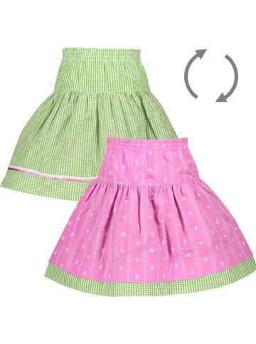 Isar-Trachten Trachtenwenderock in Grün/ Pink