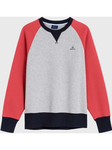 Gant Bluza w kolorze szaro-koralowym