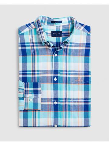 Gant Koszula w kolorze turkusowo-niebiesko-białym