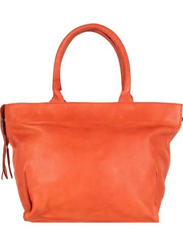 "Legend Leder-Shopper ""Bardot"" in Orange - (B)45 x (H)32 x (T)11 cm"
