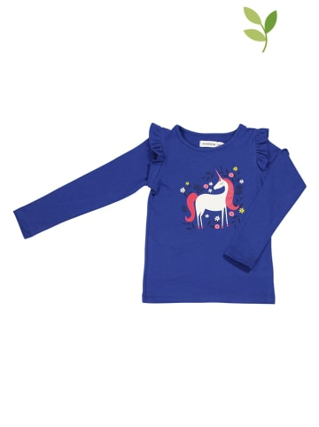 """ONNOLULU Longsleeve """"Unicorn"""" in Blau"""