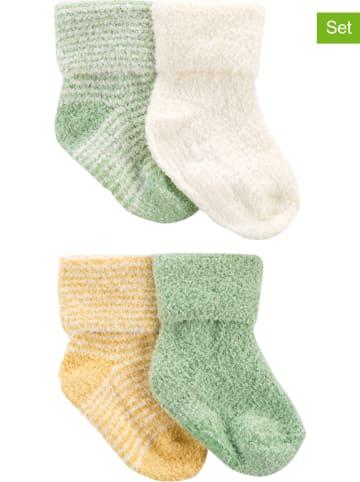 Carter's Skarpety (4 pary) w kolorze zielonym, białym i żółtym