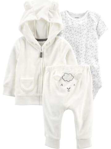 Carter's 3tlg. Outfit in Creme/ Weiß